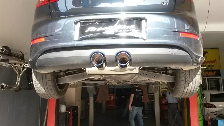 Rear muffler with Titanium Exhaust Tips - exhaust