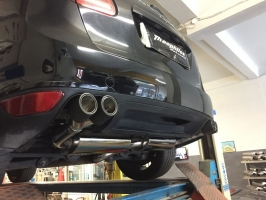 PORSCHE CAYENNE 958 Diesel Turboback exhaust with carbon exhaust tips